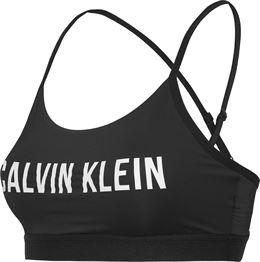 CALVIN KLEIN PERFORMANCE ADJUSTABLE LOGO BRA BLACK