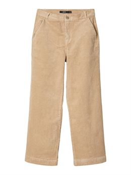 LMTD ANICKA CORD HW ANCLE PANT WHITE PEPPER