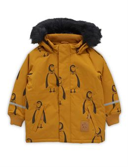 MINI RODINI PENGUIN PARKA BROWN