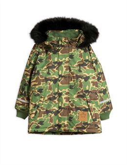MINI RODINI CAMO PARKA GREEN