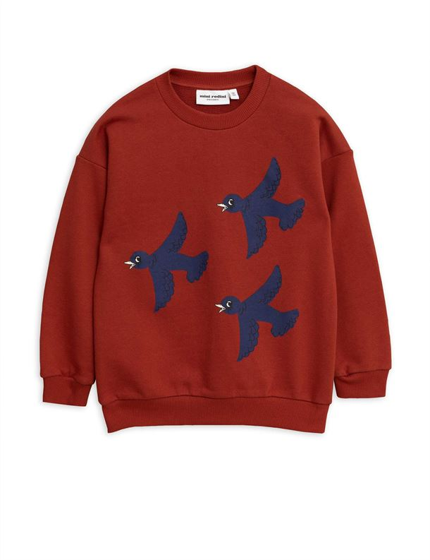 MINI RODINI FLYING BIRDS SWEATSHIRT RED