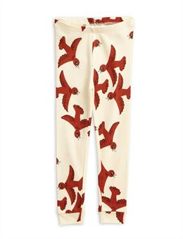 MINI RODINI FLYING BIRDS LEGGINGS OFF WHITE