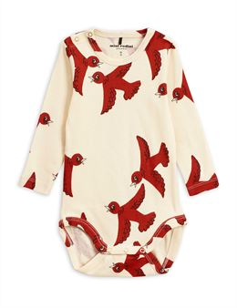 MINI RODINI FLYING BIRDS LS BODY OFF WHITE