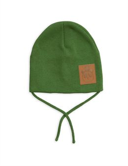 MINI RODINI PANDA HAT GREEN