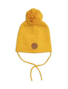 MINI RODINI PENGUIN HAT YELLOW