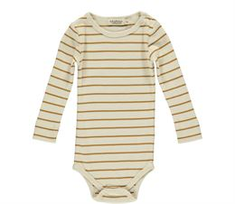 MARMAR PLAIN BODY LS MODAL PLAIN STRIPES PUMPKIN PIE STRIPE