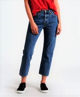 LEVIS 501 ORIGINAL CROPPED DENIM BLÅ