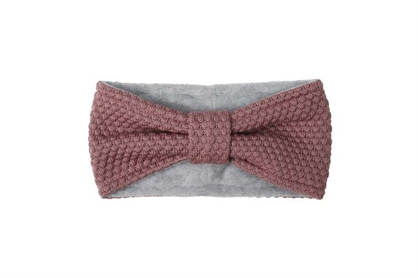 MP DENMARK OSLO HEADBAND W BOW DARK ROSE