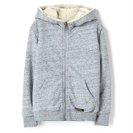 FINGER IN THE NOSE UNISEX KNITTED ZIPPED HOODY HEATHER GREY REVERSIBLE