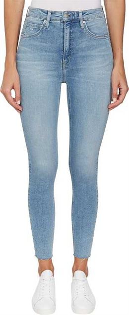 CALVIN KLEIN HIGH RISE SUPER SKINNY ANKLE BLUE