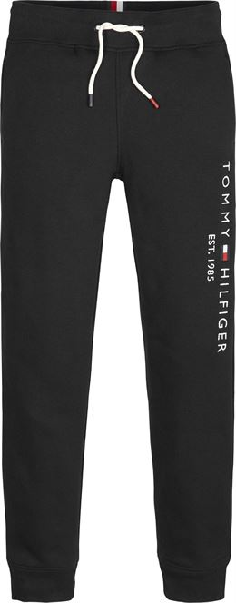 TOMMY HILFIGER ESSENTIAL SWEATPANTS TOMMY BLACK