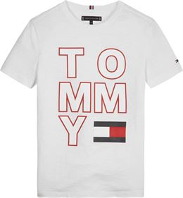 TOMMY HILFIGER MULTI APPLICATION TEE SS WHITE