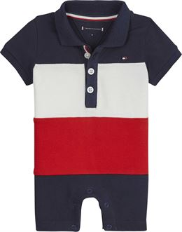 TOMMY HILFIGER BABY COLOUEBLOCK SHORTALL S/S NAVY