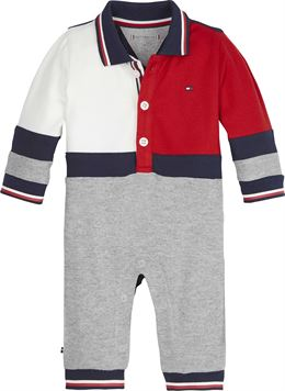 TOMMY HILFIGER BABY COLOURBLOCK COVERALL L/S