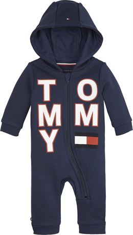 TOMMY HILFIGER BABY ZIP COVERALL L/S BLACK IRISH