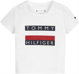 TOMMY HILFIGER BABY FLAG TEE S/S BRIGHT WHITE