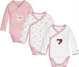 TOMMY HILFIGER BABY BODY 3 PACK GIFTPACK PINK