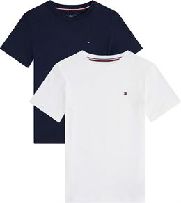 TOMMY HILFIGER 2 PACK CN TEE SS NAVY/WHITE