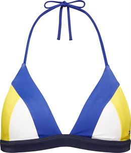TOMMY HILFIGER TRIANGLE BIKINI TOP COLOUR-BLOCKED