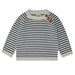 FUB BABY SWEATER ECRU/NAVY