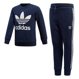 ADIDAS ORIGINALS L TRF CREW SWEATSÆT NAVY
