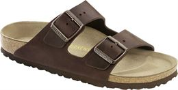 BIRKENSTOCK ARIZONA NARROW FIT OILED LEATHER HABANA