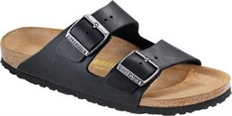 BIRKENSTOCK ARIZONA NARROW FIT SANDAL OILED BLACK LEATHER